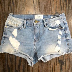 Frame le cutoff denim shorts size 25